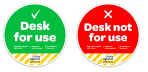 COVID-19 pandemic office stickers